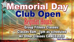 Memorial Day 2016 schedule at Red's in Lafayette, LA