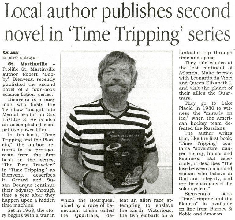 Robert Bienvenu publishes second book.