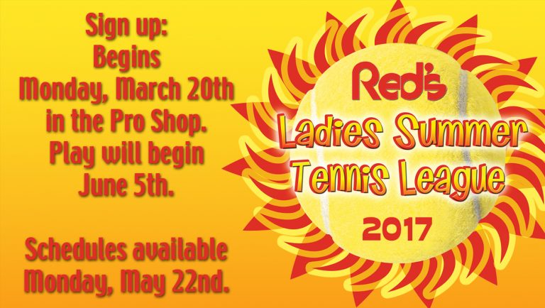 Ladies Summer Tennis League sign up