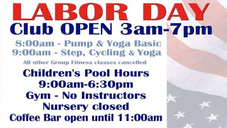 Labor Day schedule 2017 at Red's.