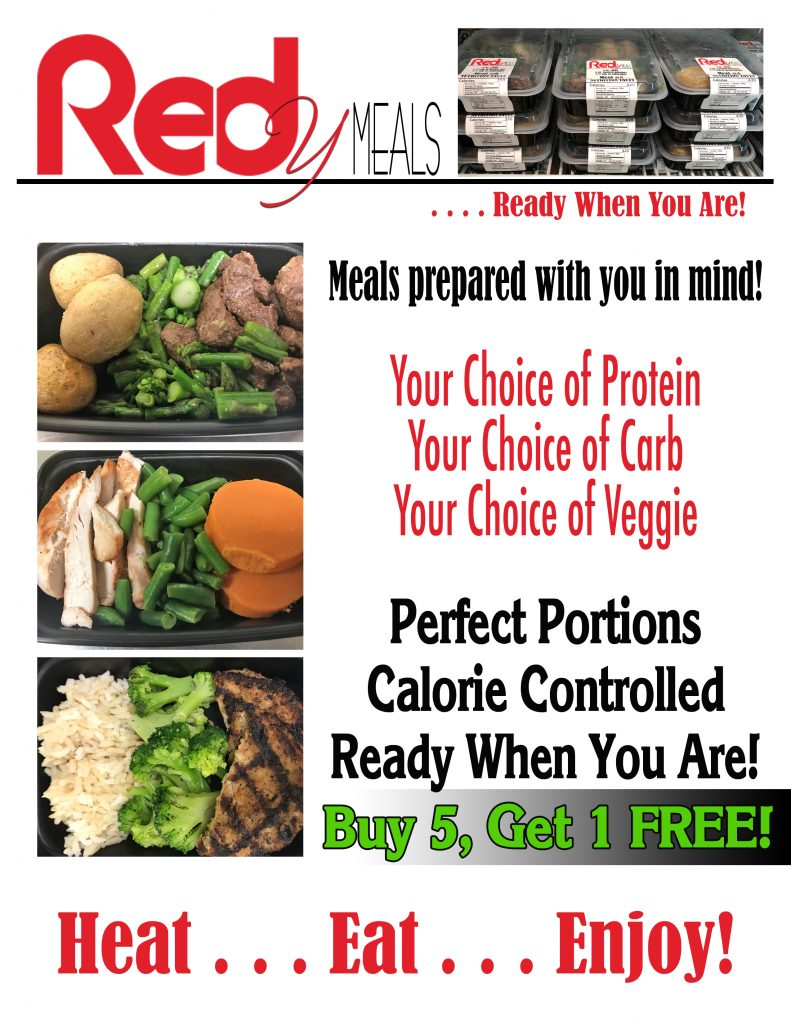 REDy Meal available at Red's Snack Bar