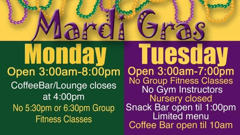 Mardi Gras 2019 schedule at Red's.