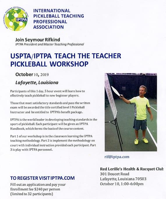 USPTA/IPTPA Teacher Workshop